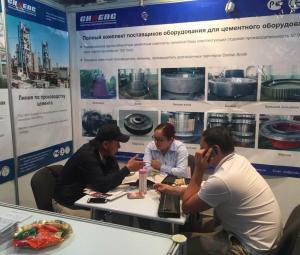 Chaeng attend Kazakhstan exhibition with our rotary kiln,ball mill,vertical mill