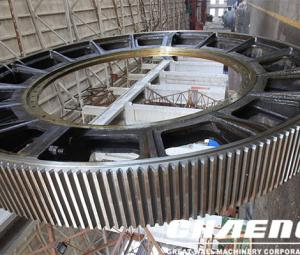 Introduction to repairing cracks in large girth gear of rotary kiln