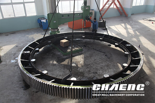 Chile copper company cooperated with CHAENG (great wall casting)for 5.8m large girth gear