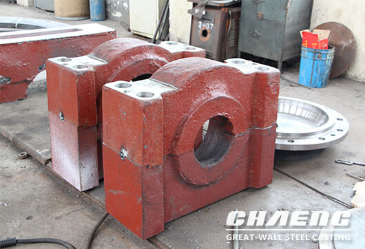 India customers purchased bearing housing for vertical mil grinding roller