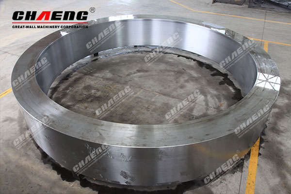 Process introduction of CHAENG cast steel tyre for rotary kiln
