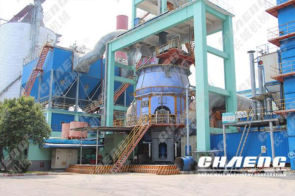 A slag vertical mill production line