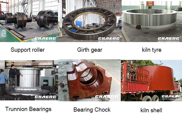 Rotary kiln shell/girth gear/tyre/supporting roller