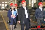 Russian coustomer visit our factory(steel casting)
