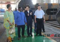 Nigeria Governor and his wife visit our factory(chaeng)