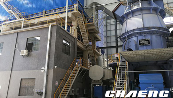 The installation of guangdong slag grinding mill has completed