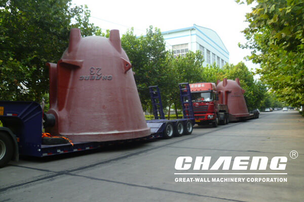 Three pieces of CHAENG slag pots to South Africa
