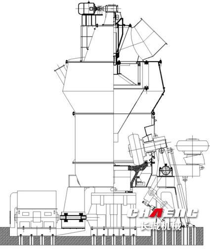 High pressure vertical coal grinding mill new design hot selling powder grinding mill equipment