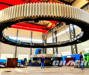 Chaeng steel casting girth gear for ball mill