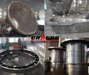 Main process elements for heat treatment of large steel castings