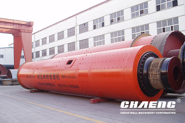 What is the cylinder structure of the ball mill?