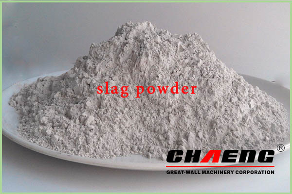Slag powder production and composition