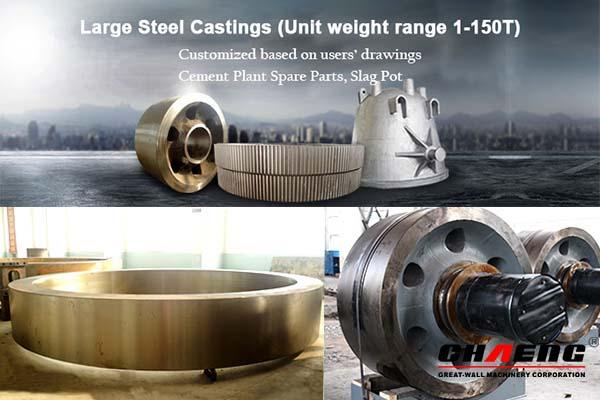 Chaeng steel casting Slag Pot/Girth Gear/Rotary Kiln Tyre/Rotary Kiln Support Roller