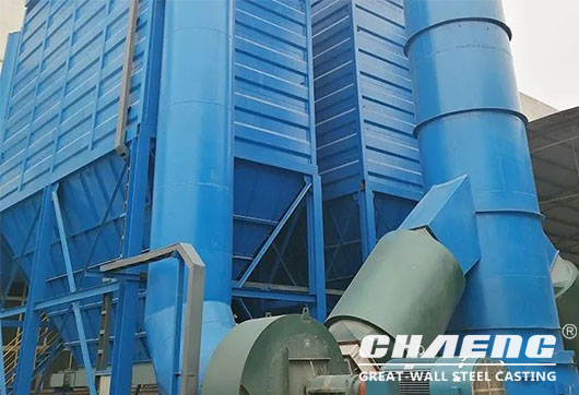 Large bag dust collector