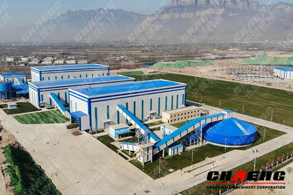 Fine sand aggregate production line contracted by chaeng