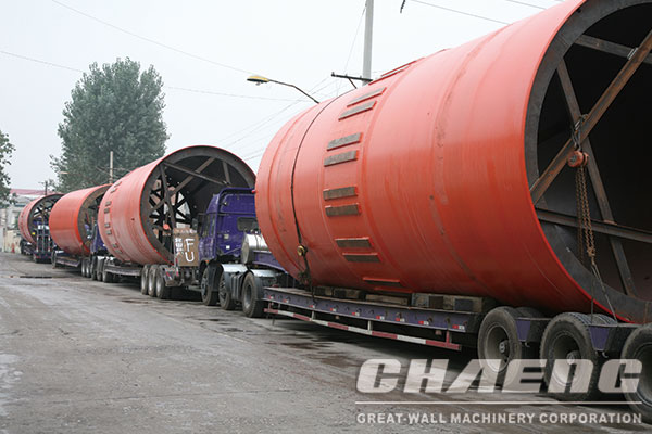 What are the main equipments for the rotary kiln system?