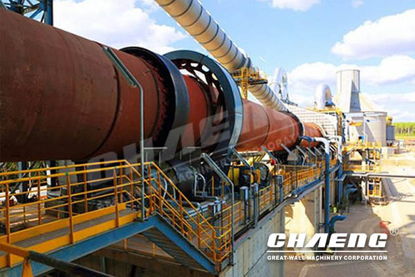 Cement rotary kiln-cement clinker production process