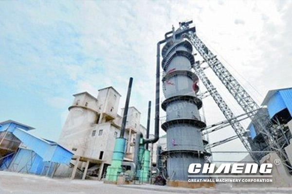 Low Power Consumption Vertical Shaft Kiln Active Lime Production Line