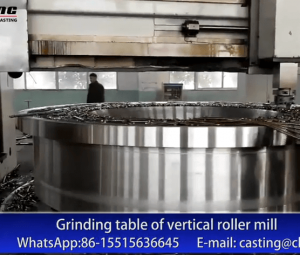 Grinding table of vertical roller mill (steel casting parts)