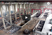 1-150t steel casting large girth gear,big gear,large gear