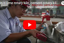 200-1500t/d lime rotary kiln, cement rotary kiln, Large ring gear production process