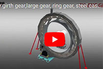 rotary girth gear,large gear, ring gear, steel casted