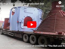 Uzbekistan 1000t/d cement production line