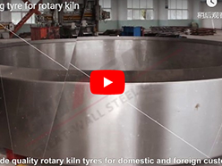 Casting tyre for rotary kiln